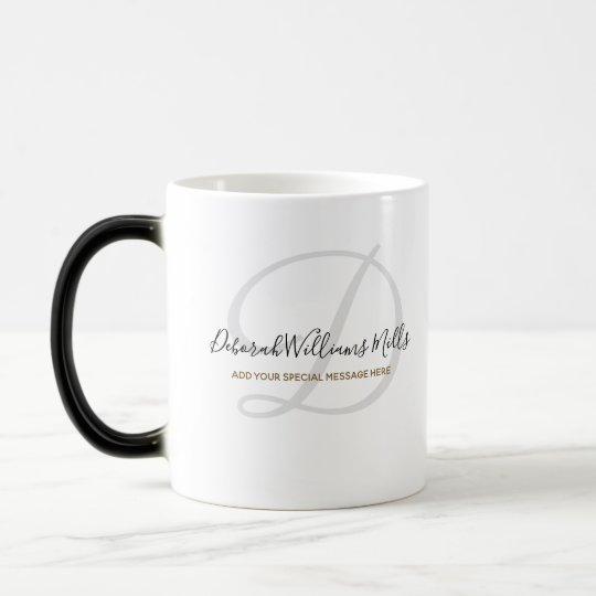 handwritten font style monogram magic mug