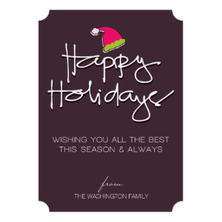 handwritten happy holidays card