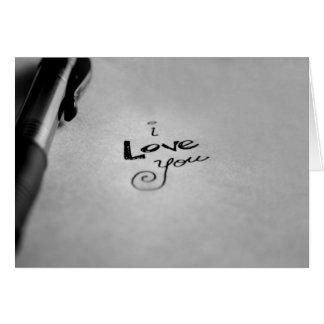 Handwritten I Love You Card
