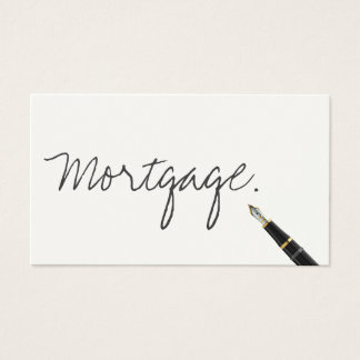 Handwritten Mortgage Agent Business Card