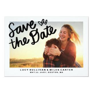 "Handwritten Photo Save the Date Frame 5"" X 7"" Invitation Card"