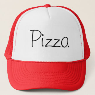 Handwritten Pizza Red Trucker Hat
