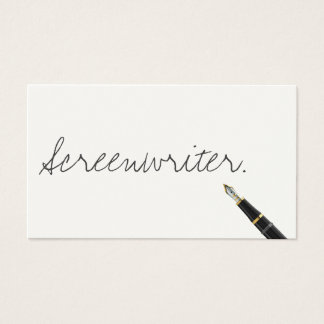Handwritten Screenwriter Business Card