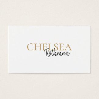 Handwritten Script Font Typography Business Card