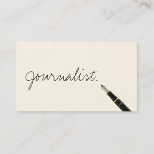 Newspaper journalist business cards business card printing zazzle ca handwritten script journalist business card reheart Images