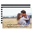Handwritten Script Save Our Date Announcement
