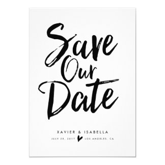 Handwritten Script Save The Date Announcement
