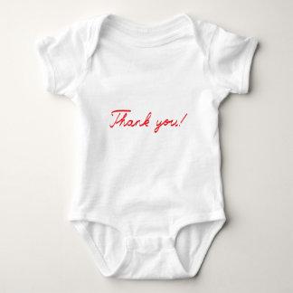 handwritten Thank You note Baby Bodysuit