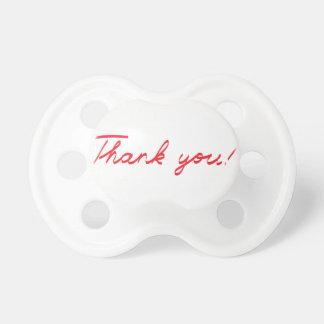 handwritten Thank You note Pacifier