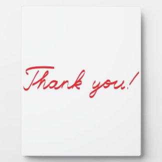 handwritten Thank You note Plaque