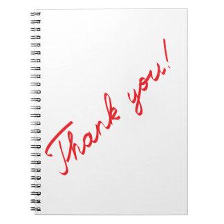 handwritten Thank You note Spiral Notebook