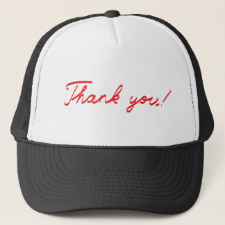 handwritten Thank You note Trucker Hat