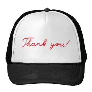 handwritten Thank You note Trucker Hat
