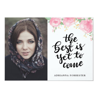 Handwritten The Best Is Yet To Come | Grad Photo Card