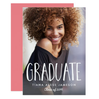 Handwritten Trendy Photo Graduation Announcement