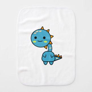 Handy Blue Dinosaur Kawaii Cartoon Burp Cloth