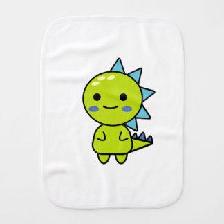 Handy Green Dinosaur Kawaii Cartoon Burp Cloth