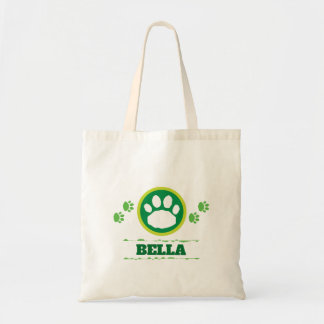 Handy Green Pet Paws Tote Bag