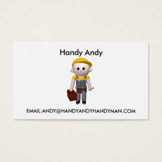 Handy man business card