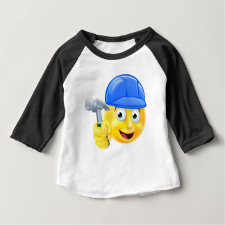 Handy Man Carpenter Builder Emoji Emoticon Baby T-Shirt