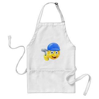 Handy Man Carpenter Builder Emoji Emoticon Standard Apron