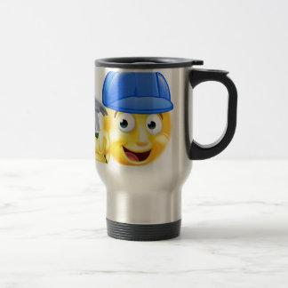 Handy Man Carpenter Builder Emoji Emoticon Travel Mug