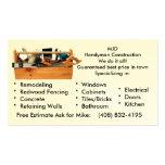 Handy Man Construction Business Card