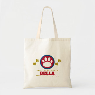 Handy Maroon and Gold Pet Paws Tote Bag