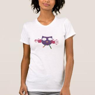 Handy Owl - Womens T-Shirt