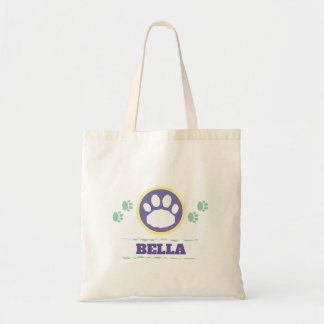 Handy Purple and Green Pet Paws Tote Bag
