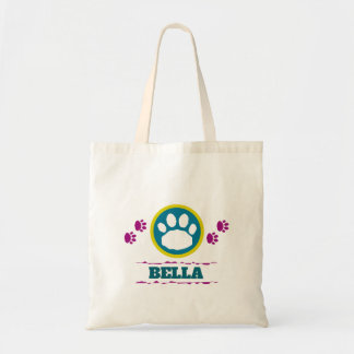 Handy Purple and Teal Pet Paws Tote Bag