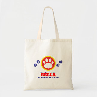 Handy Red and Blue Pet Paws Tote Bag