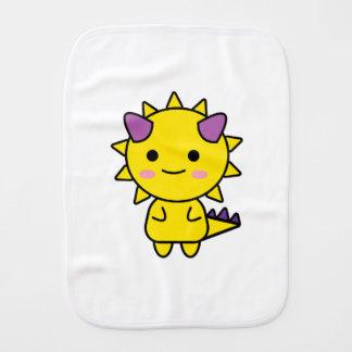 Handy Yellow Dinosaur Kawaii Cartoon Burp Cloth