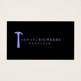 Handyman Business Card Simple Hammer Silhoutte