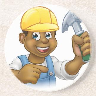 Handyman Carpenter Hammer Man Drink Coasters