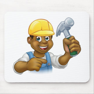 Handyman Carpenter Hammer Man Mouse Pad