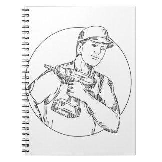 Handyman Cordless Drill Mono Line Notebook