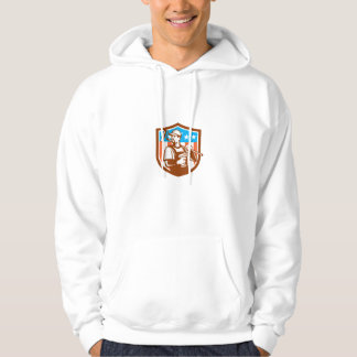 Handyman Cordless Drill Paintroller Crest Flag Ret Hoodie