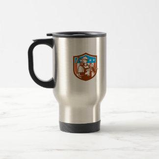 Handyman Cordless Drill Paintroller Crest Flag Ret Travel Mug