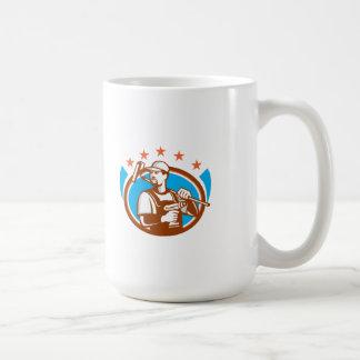 Handyman Cordless Drill Paintroller Oval Stars Ret Coffee Mug