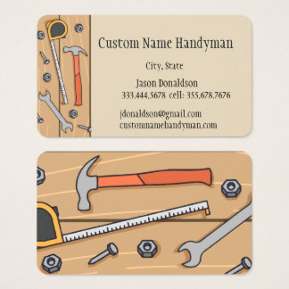 Handyman Custom Business Cards