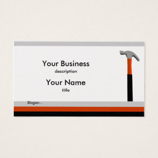 Handyman Hammer Business Card
