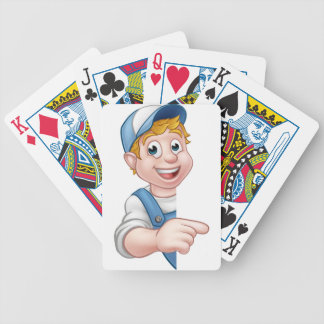 Handyman Mechanic Plumber Gardener Decorator Bicycle Playing Cards