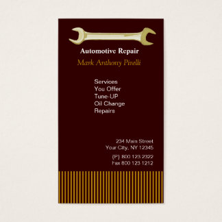 Handyman Mechanic  Repairman Guy Business Card