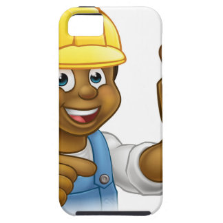 Handyman Plumber Holding Punger Cartoon Character Case For The iPhone 5