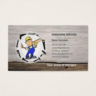Handyman services businesscard business card