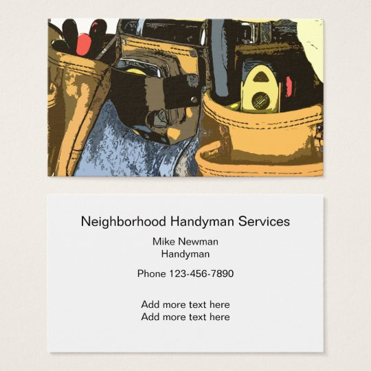 Handyman Simple Two Side Design Business Card