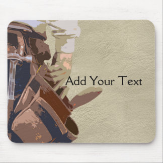 Handyman Tools Watercolor Mouse Pad