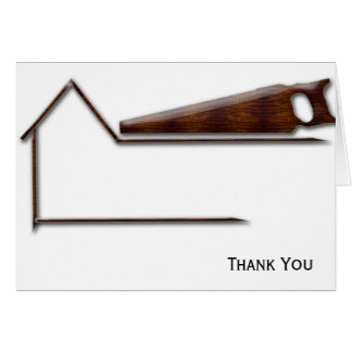 Handyman Wood Saw Business Note Card