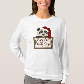 Hanes Nano Long Sleeve Christmas Bear t-shirt